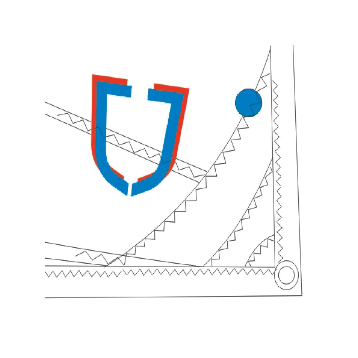 Vela J Sail Blue 35/44